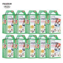 10 200 Fuji Fujifilm Instax Mini 11 9 8 7s 70 90 фотобумага с белым краем 3 дюйма для мгновенной камеры с салфеткой для очистки
