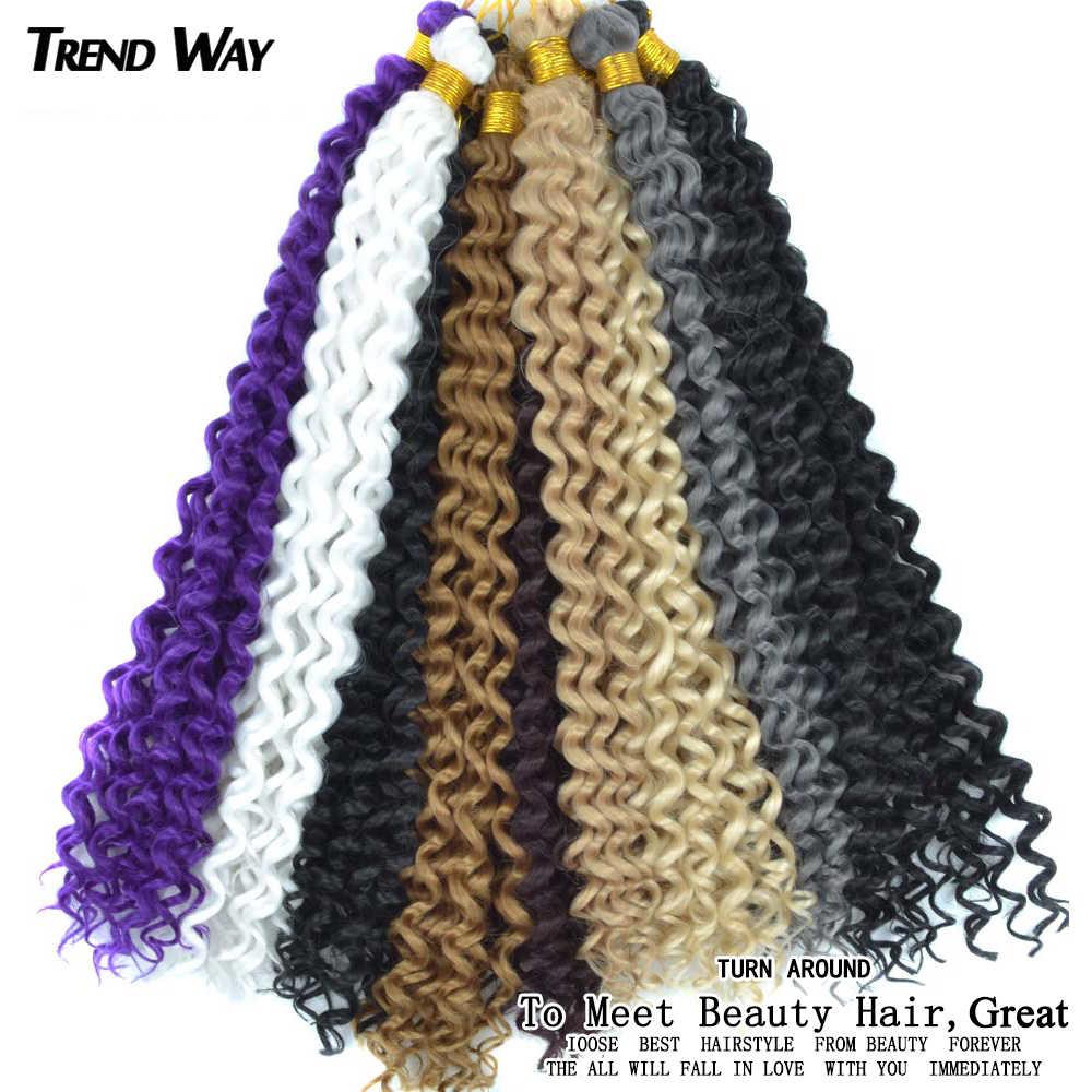 14 cali Afro perwersyjne Curl plecione warkoczyki Afro wiązki włosów warkocz z włosów Ombre syntetyczne doczepy do włosów szary różowy blond zielony