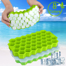 SILIKOLOVE Honeycomb Ice Cube Trays mit Abnehmbaren Deckel Silica Gel Ice Cube Mold BPA FREI cheap Eiscrememaschine CN (Herkunft) Umweltfreundlich Speiseeisgeräte SILICONE CER EU LFGB 20*11*2 5 CM Ice Cream Makers Jelly pudding Ice Cubes