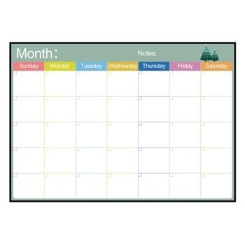 Pizarra blanca magnética borrable, pizarra seca, imanes, nevera, lista de trabajo, planeador diario semanal mensual, horarios