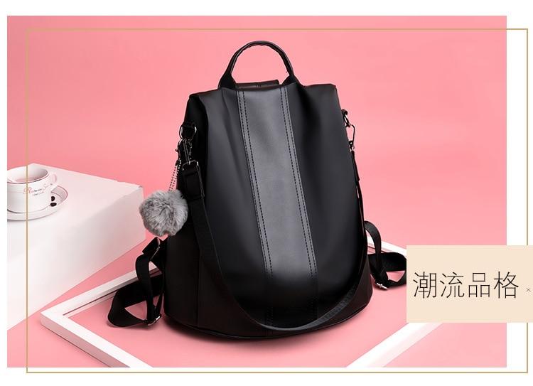 H792896c3a41f4cbda4ef406ff187b342b 2019 Women Leather Anti-theft Backpacks High Quality Vintage Female Shoulder Bag Sac A Dos School Bags for Girls Bagpack Ladies