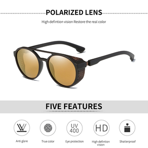 Image 2 - KEITHION Retro Round Polarized Sunglasses Steampunk Men Women Brand Designer Glasses Oculos De Sol Shades UV Protection