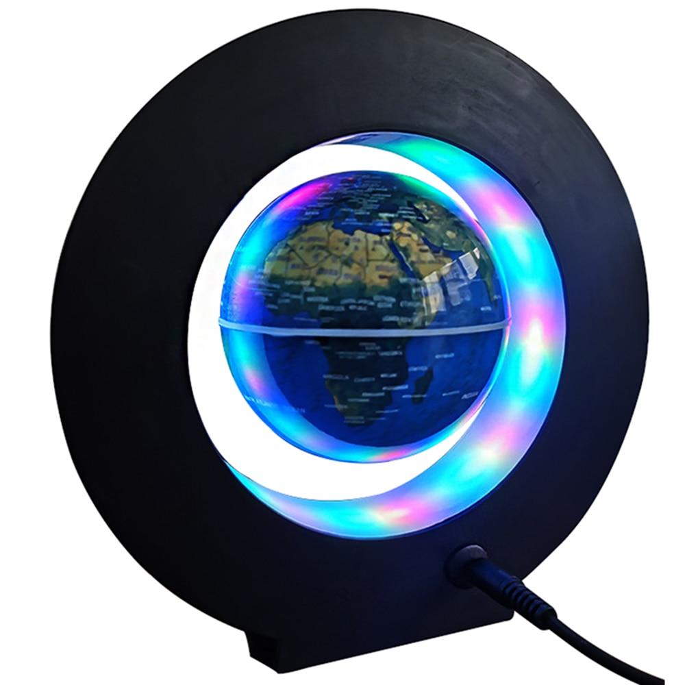 Creative Anti Gravity Globe Magnetic Levitation Floating Globe World Map With LED Night Light Novelty Lighting Office Boys Gift