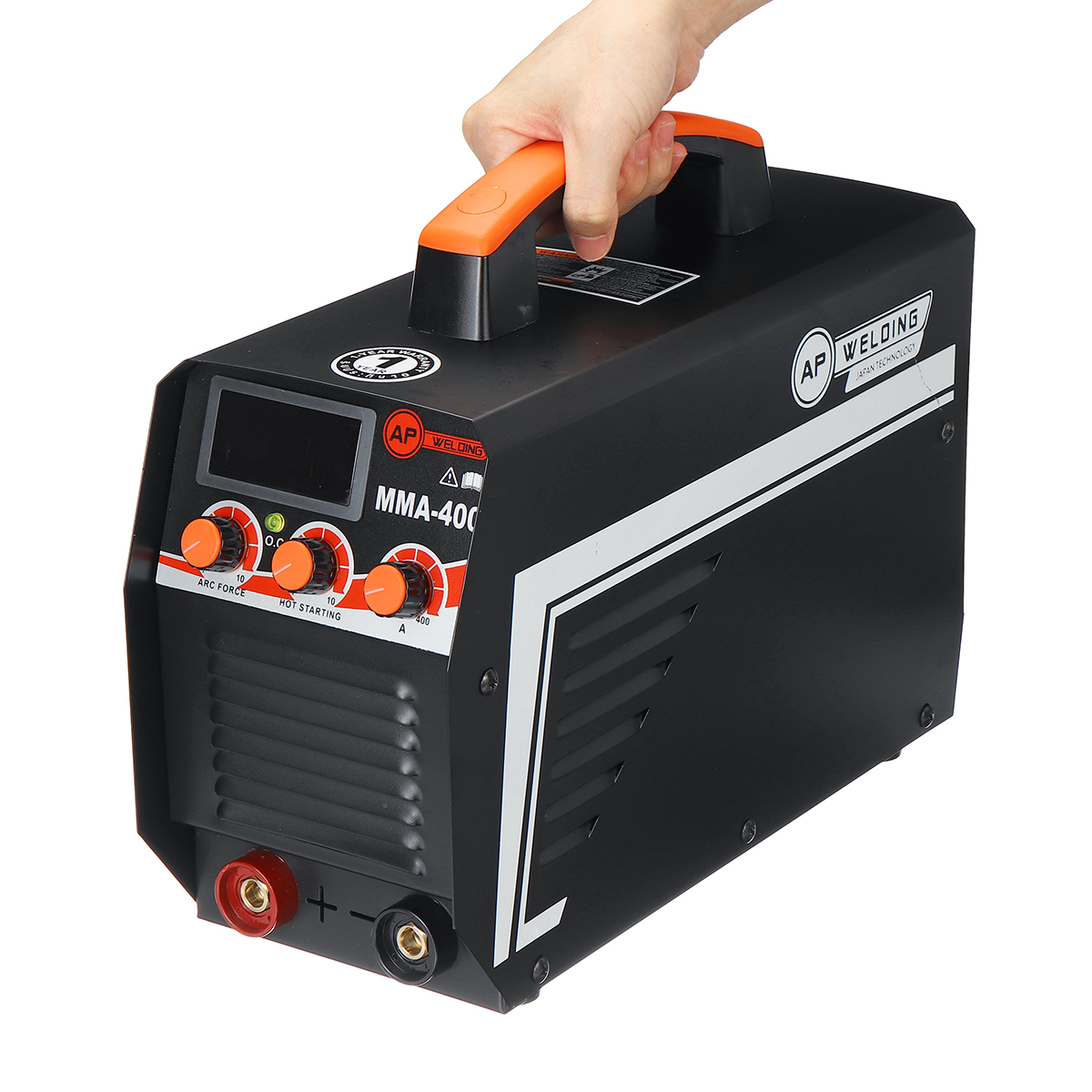 Tools : New IGBT Inverter Arc Electric Welding Machine MMA-400 220V Digital Display Arc Stick Welders Set For DIY Home Welding Working