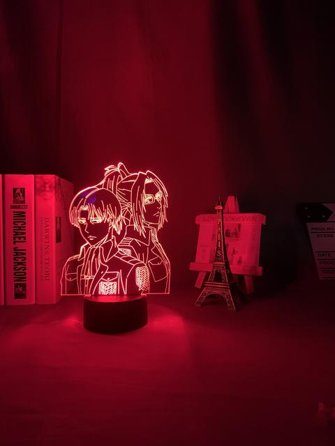 16 COLOR WITH REMOTE ATTACK ON TITAN 3D LED LAMP