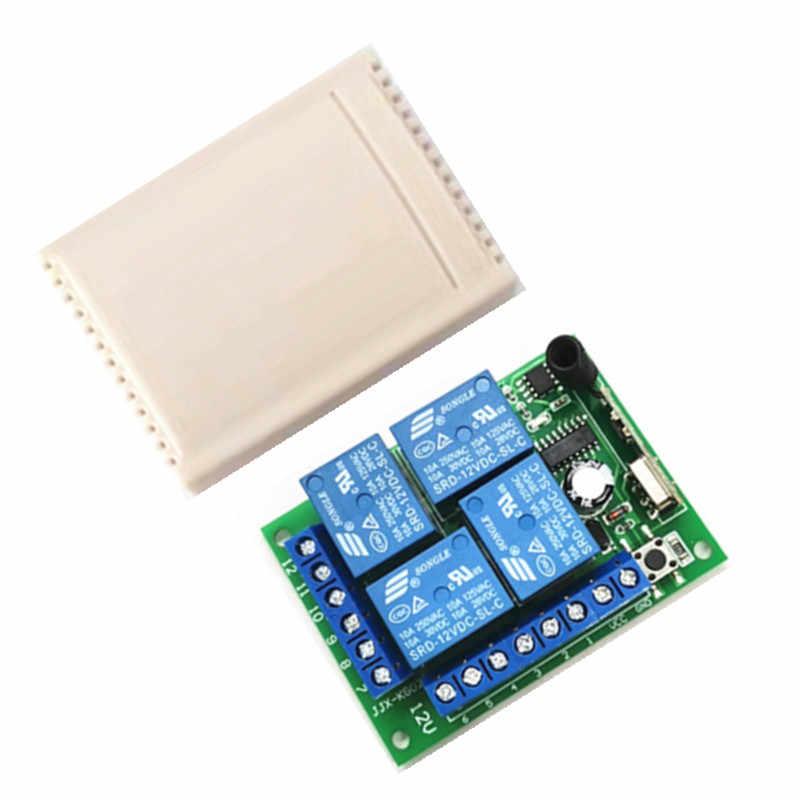 433 Mhz Không Dây Đa Năng Điều Khiển Từ Xa DC12V 4CH Tiếp Thu Module RF 4 Kênh Điều Khiển Từ Xa 433 Mhz1527 lea