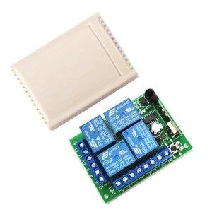 Image 3 - Interruptor de control remoto inalámbrico universal 433 Mhz módulo receptor por relé DC12V 4CH con control remoto RF de 4 canales 433 Mhz1527 lea
