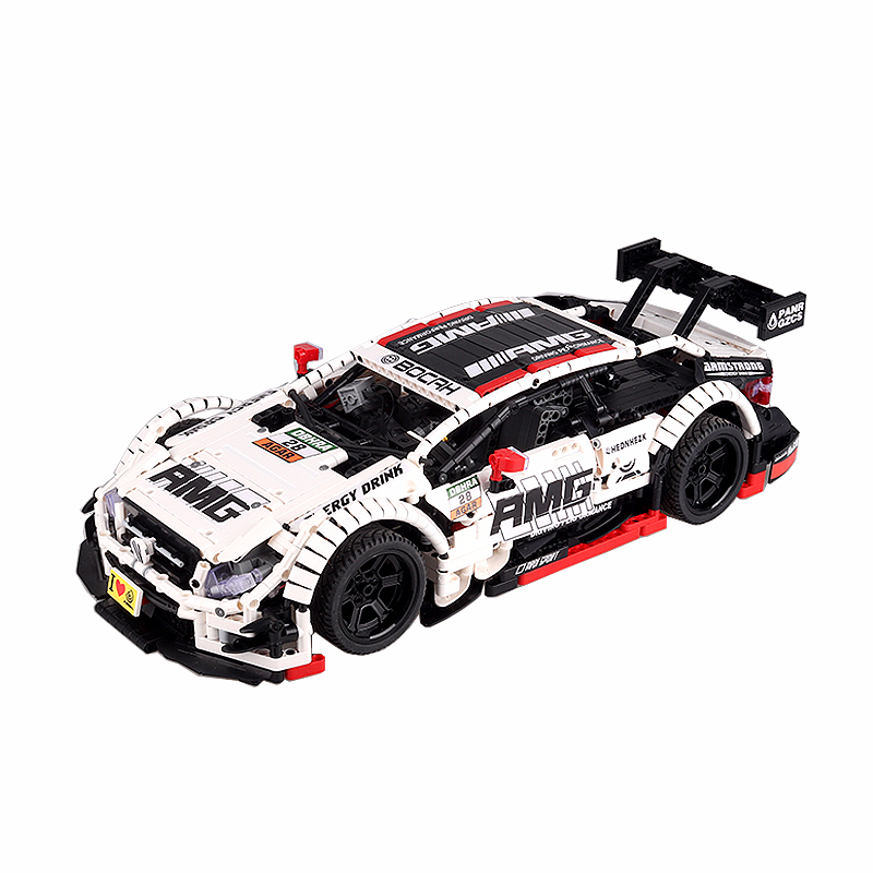 23012 Highest Quality Sports Car Series Amg Racing Children Alpinia Oxyphylla Assembling Building Block Model Children's Toys
