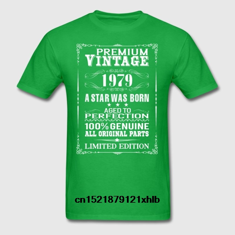 Men T shirt PREMIUM VINTAGE <font><b>1979</b></font> Fashion funny t-shirt novelty <font><b>tshirt</b></font> women image