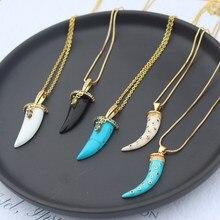 Arco-íris cz micro pave lua pingente colar para as mulheres moda ouro colorido zircônia instrução gargantilha chifres colar jóias