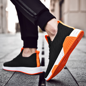 Image 5 - Men Shoes  Mesh  Shallow  Spring/Autumn  Lace Up  Solid  Designer Sneakers Men Off White Shoes Breathable Non slip Running Shoes