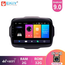 Ekiy 9 ips ips ips carro multimídia android 9.0 rádio automático para jeep renegado 2016 2017 2018 navegação gps 4g estéreo jogador de vídeo