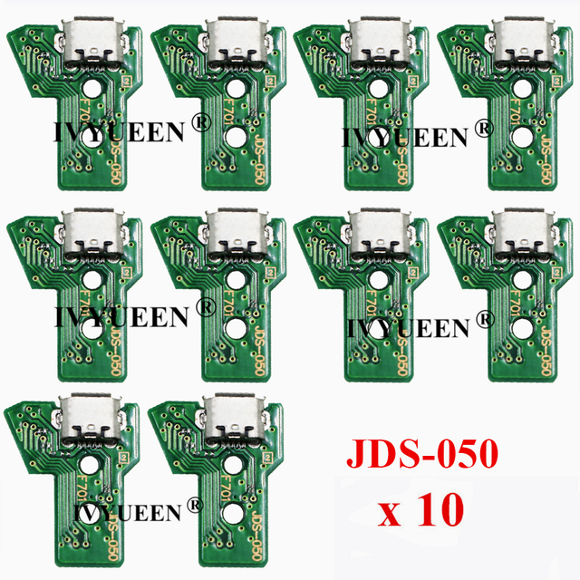 10 PCS JDS 050 040 030 011 USBชาร์จพอร์ตซ็อกเก็ตสำหรับSony PlayStation 4 PS4 DS4 Pro Slimคอนโทรลเลอร์บอร์ดPCB
