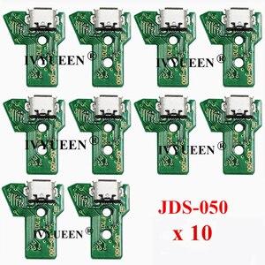 Image 1 - 10個jds 050 040 030 011 usb充電ポートソケットボードプレイステーション4 PS4 DS4プロスリムコントローラ充電器pcbボード