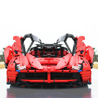 XQ1002 Red Racing Sports Car Motor Power Function Technical Building Blocks Bricks Kids Gift Toy