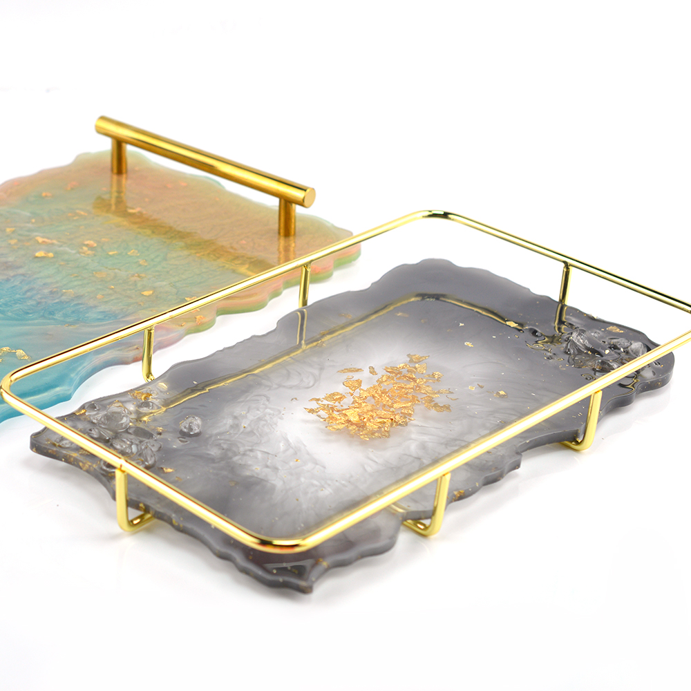 Hot Sell Home Decorative Craft Mold DIY Fruit Tray Table Mat Resin  Silicone Base Coaster Tray Mold For Jewelry Making