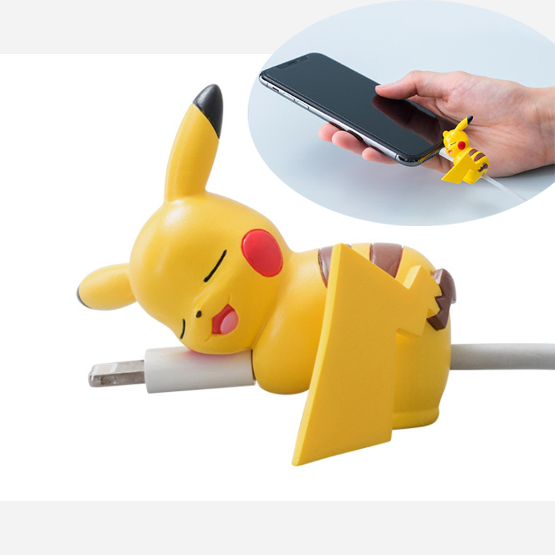Cute Bite Cartoon Cable Protector For IPhone XS Max XR 8 7 Universal Cord Protection Protective Cover USB Charging Cable Winder