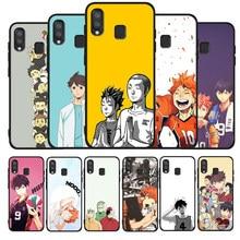 Voleibol Haikyuu Anime Caso de telefone Para Samsung A10 A20E A30 A40 A50 A60 A70 M10 M20 M30S M40 A01 A21 A31 A51 A71 4G de Cobertura