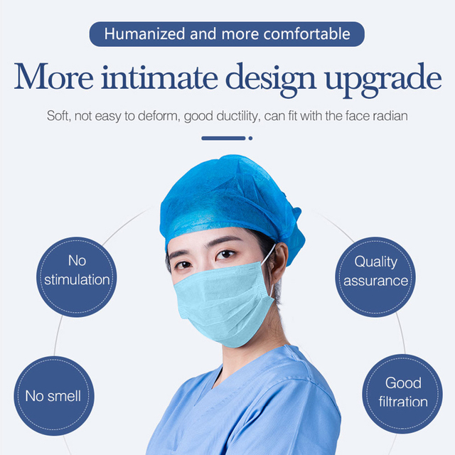 50/100Pcs Three-layer Protection Non Woven Disposable Dust Face Mouth Masks  Anti-Dust Earhook Mask Flu 3