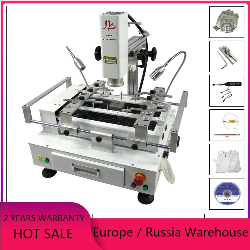 R690 V 3 BGA rework station soldering machine with brush stencil pen and touch screen control