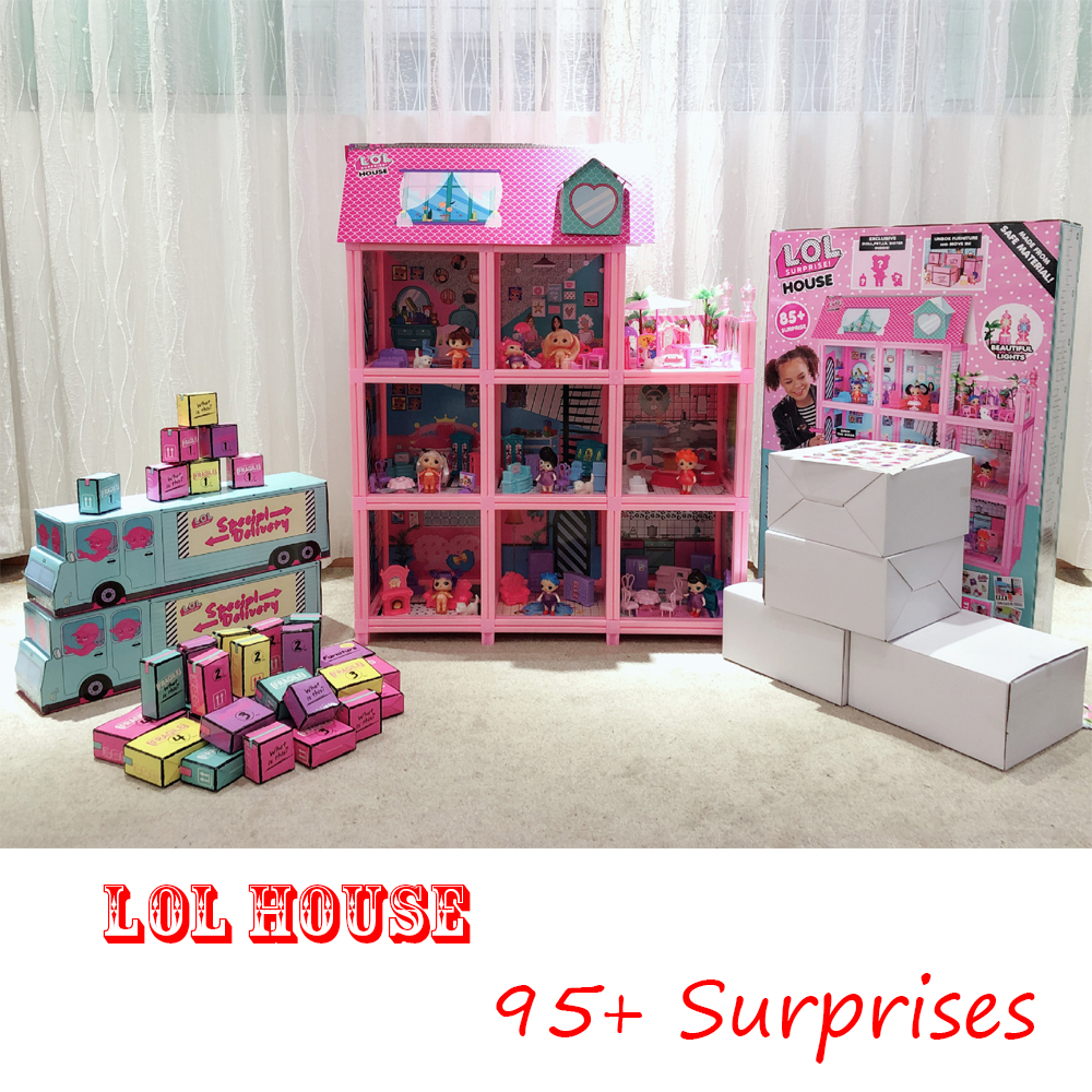 LOL Surprise Original House With 95+ Surprises! Christmas Gift For Children Play House DIY Toy For Girl