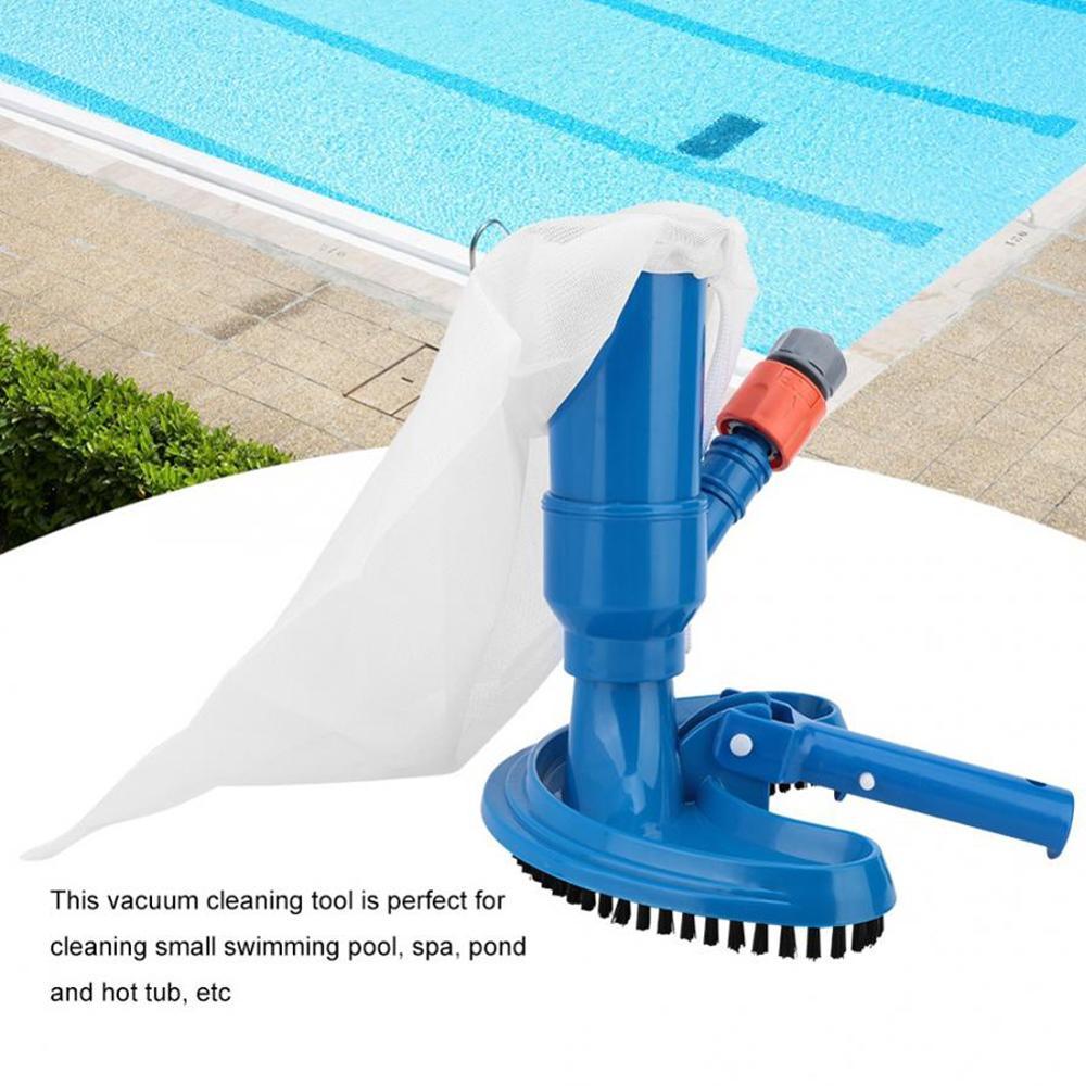 Портативный бассейн пылесосы мини струя под водой очиститель с сеткой сумка щетка головка ручка Quick шланг соединитель