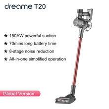 (18 18 código: fastmae18) dreame t20 handheld aspirador de pó sem fio 25kpa forte sucção tudo em um coletor de pó aspirador de chão
