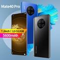 Смартфоны Коврики 40 Pro 5G мобильный телефон дешёвый 7,2 дюймов HD Экран 5600 мА/ч, Батарея 32MP Камера масштабным видением 12 г 512 Celulares Android смартфон