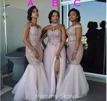 Африка размера плюс Русалка для подружки невесты; Платья 2020
