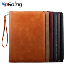 Luxury PU Leather Business Cover for Ipad Air 2 Flip Stand Case Smart Handhold Case for Apple Ipad Air 2  Fundas W/ Logo Fundas стоимость