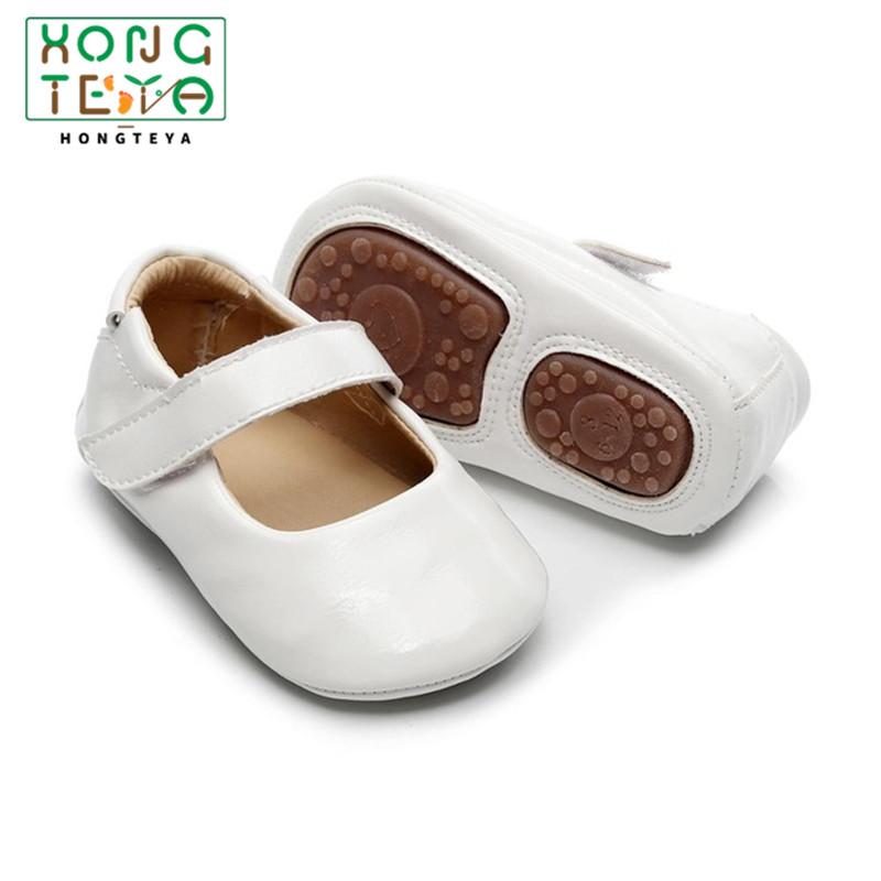 New Baby Shoes Rubber Sole Casual Princess Girls Baby Kids Pu Leather Solid Crib Babe Infant Toddler Cute Ballet Mary Jane Shoe