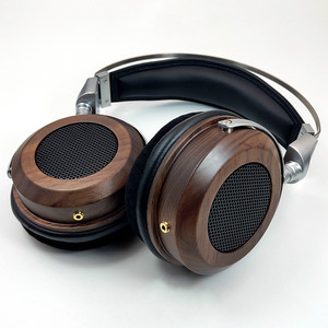 Image 1 - HiFI 50mm Headphone Over Ear Headset With 3.5mm Audio Cable 16Ohm Speaker Unit Open Back Zinc alloy Wooden Good Quality New 1PC