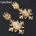 Cpop Новая Большая Золотая винтажная Женская фотография