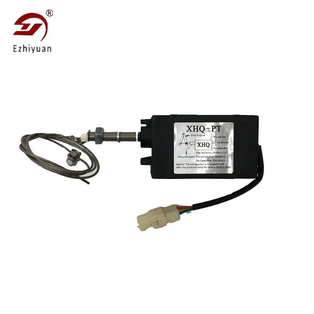 XHQ-PT 12/24V Diesel Generator Onderdelen Motor Stop Magneetventiel Power On Off Pull Type Vlam Uit magnetische Apparaat