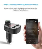 fm tf Car Charger with FM Transmitter Bluetooth Receiver Audio MP3 Player TF Card  Car Kit Dual USB Car Phone Fast Charger (2)