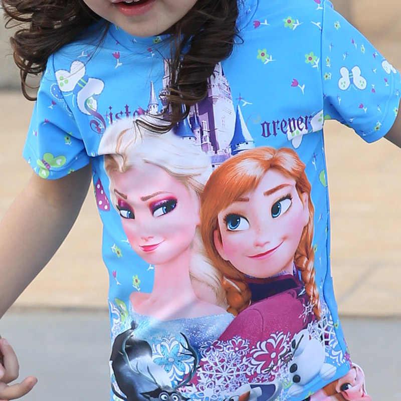 Know Dream dwa kawałki dziewczynek strój kąpielowy Elsa Anna Sophia strój kąpielowy Bikini dla dzieci stroje kąpielowe dla dzieci Cartoon