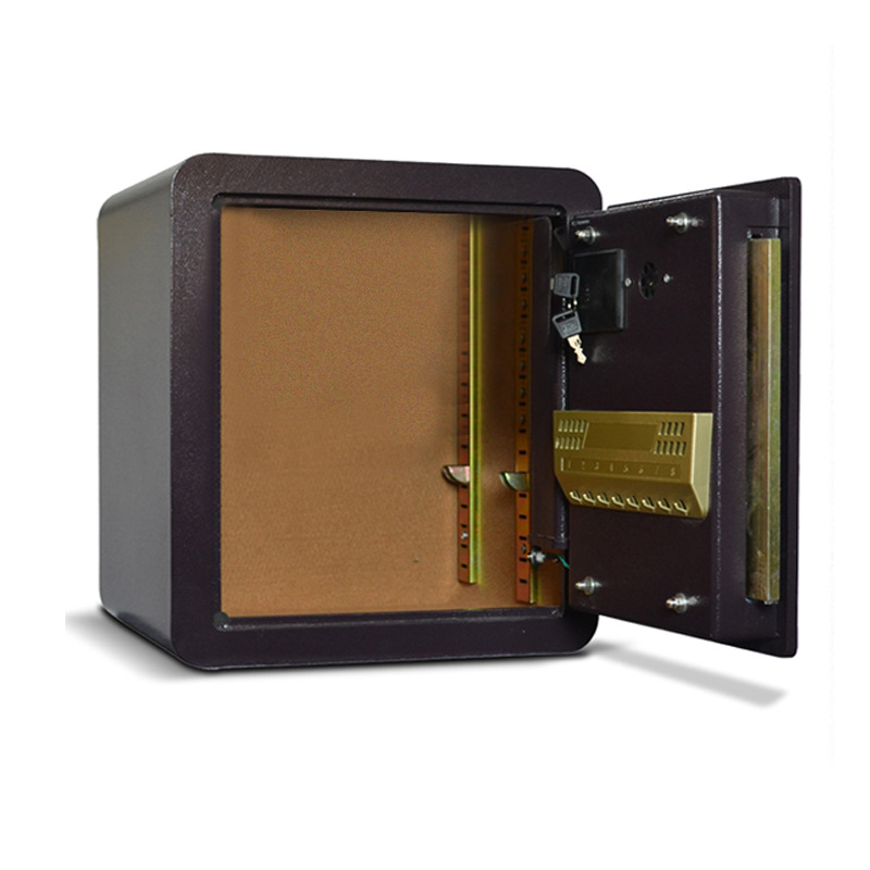 Safe Box Small Household Electronic Password Anti-Theft Wall Bedside All-Steel Alarm New Style 25 Mini Safety Box