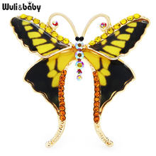 Классические броши wuli & baby в форме бабочки для женщин 3