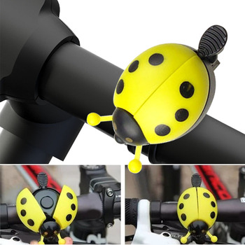 Cartoon Cycling Bell Bicycle Bell Ring Beetle Lovely Ladybug Bell Ring for Kid Gift for Bike Ride Horn Alarm Bicycle Accessories image