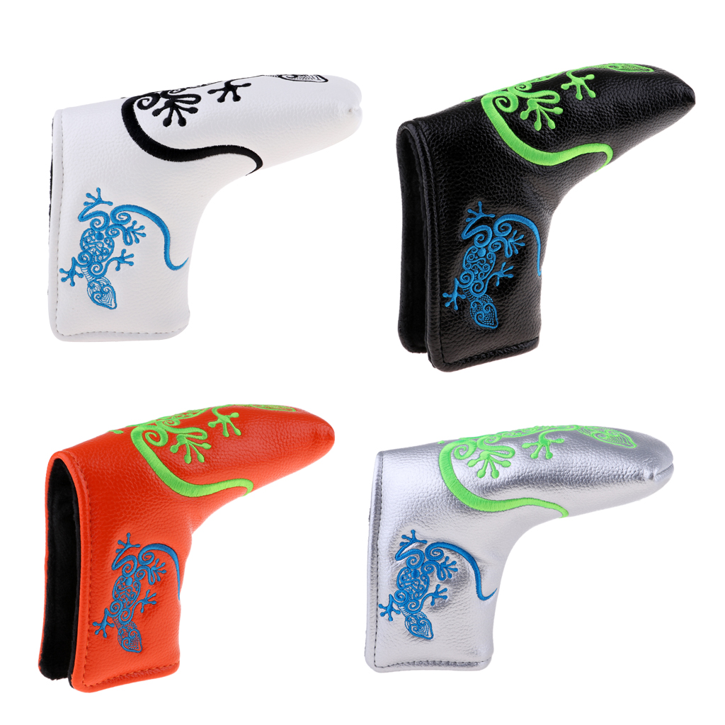 Durable Golf Blade Putter Head Cover Headcover Protector Bag Putter PU Sleeve Protector Bag Replacement Golfing Golfer Equipment