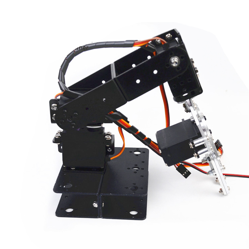 Aluminum Alloy Arduino 4 Dof Robot Arm With Claw Gripper Manipulator Servo Bracket Mechanical Claw DIY Robot Unassembled