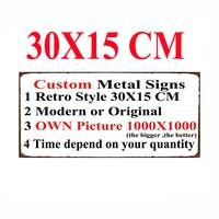 [ Mike Decor ] Custom Wholesale Metal signs Poster decor for bar home pub 20X30 cm