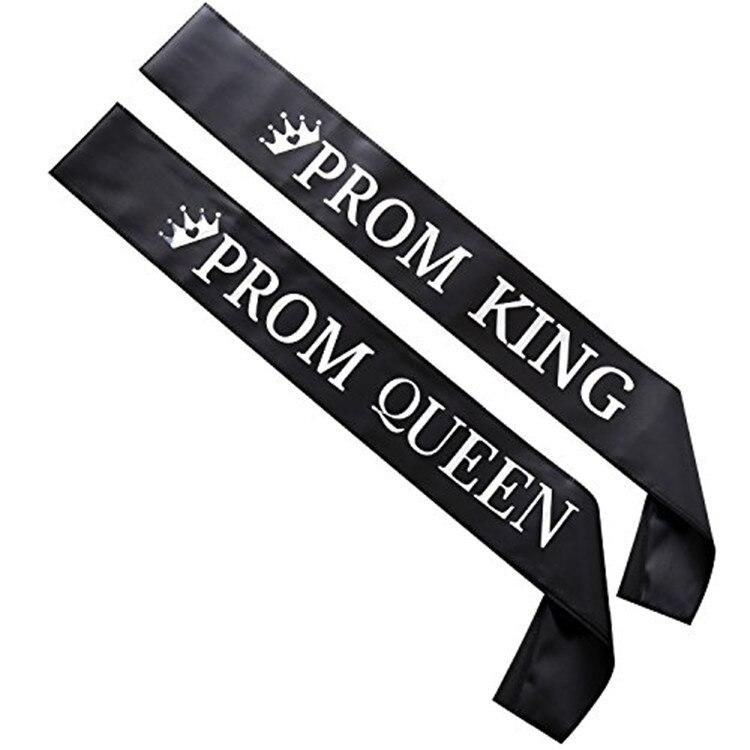 Для мужчин, женщин, мужчин, ленты, пояс, плечевой ремень, золотые буквы, выпускной, король, королева, вечерние подарки, Декор, карнавал, девичн...
