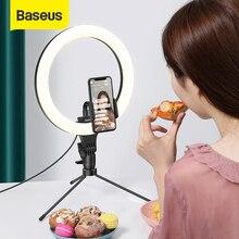 Baseus Novelty lights LED Selfie Ring light 10/12inch Table/Floor Stand Phone holder Tripod Photography Lighting for Live Studio