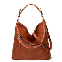 Valenkuci Women Bag Oil Wax Women Leather Handbags Luxury Lady Hand Bags with Purse Pocket Women Messenger Bag Big Tote Sac Bols