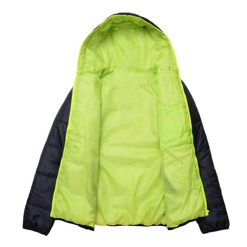 HEFLASHOR 남자 코트 겨울 색 블록 지퍼 후드 자켓 코튼 패딩 코트 슬림 피트 패션 Thicken Warm Outwear Tracksuit