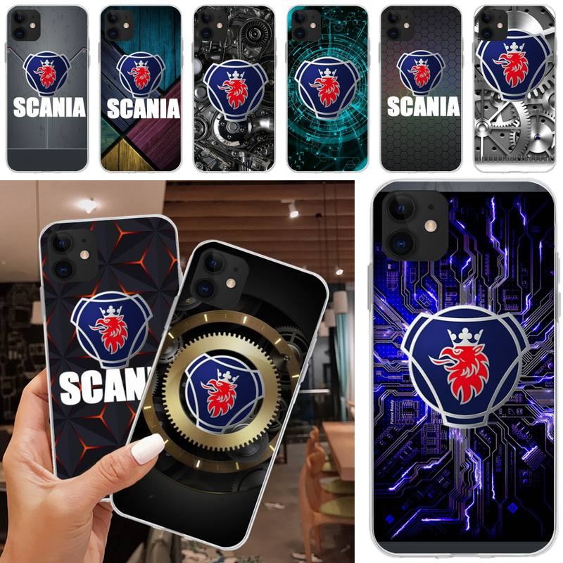 LJHYDFCNB Super heavy card Scania logo Phone Case Cover For iphone 5C 5 6 6s plus 7 8 SE 7 8 plus X XR XS MAX 11 Pro Max image