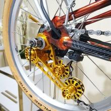 Натяжитель цепи для складной велосипедной цепи Brompton, Направляющая цепи с одним диском 2/3/6 задний переключатель скорости, натяжитель цепи, в...