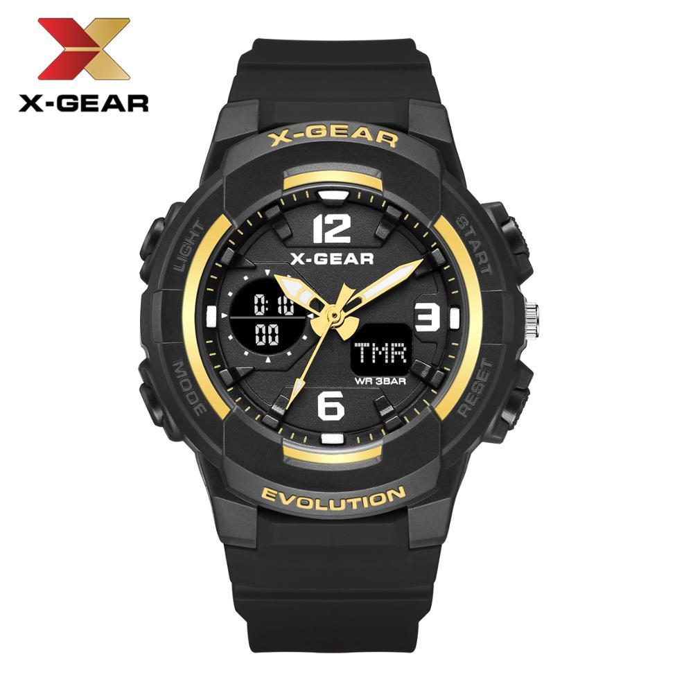 X-GEAR Woman Watches Waterproof Rose Gold Sport Watch Ladies 952 Clock Casual Pink Girls Watch Women Quartz Digital Watches LED