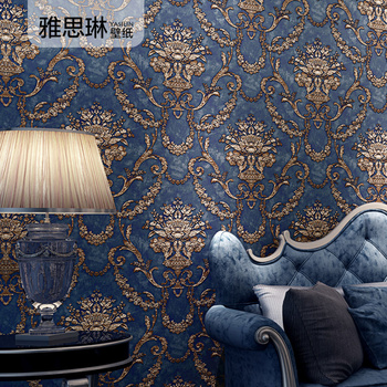 High quality 3D European style wallpaper luxury atmospheric non-woven Damascus wallpaper home living room bedroom TV background high quality american wallpaper 3d rural non woven european style wallpaper luxury retro tv background home living room bedroom